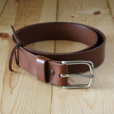 "Genuine Bullhide Leather Belt_1-1/2"" Handmade Men's Belt_Full Grain Leather"