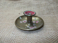Victorian Brass Candlestick, 1880s, Bedside candle holder dish, not Brighton Bun