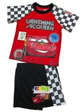 Cars Lightning McQueen Red Licensed Boys Pjs Pyjamas