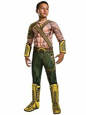Aquaman Batman Vs Superman Deluxe Muscle Chest Superhero Boys Costume