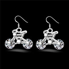 Earring Earring Crystal Women Bicycle Gift Bike New 1Pair Design Jewelry