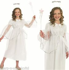 Girls Childs Fairy Angel Gabriel Christmas Nativity Fancy Dress Costume Outfit