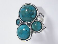 SHABLOOL 925 Sterling Silver Turquoise Gemstone Turquoise Mix stones Ring