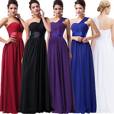 Chiffon One Shoulder Cocktail Evening Pageant Party Gown Formal Bridesmaid Dress