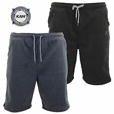Mens KAM Big Size Sweat Pants Elasticated Gym Jogging Shorts Joggers 2XL 3XL 4XL