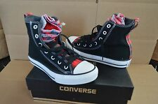 New in Box Converse Youth Black / Plaid CT All Stars Hi Tops 649978F Shoes