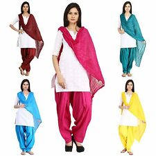 Stitched Patiala Salwar Dupatta Set Free Size Cotton Ladies Salwar Pants & Scarf