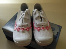 Keds Toddler Champ TC White Canvas Shoes with Pink Flower  NIB