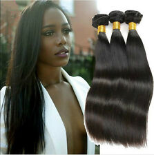 7A Virgin Brazilian Straight Body Wave Human Hair Weave Weft Extensions 3Bundles