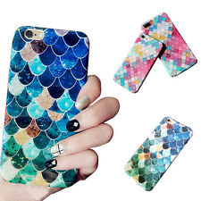Fashion 3D Fish Scale Case for iPhone 6 6S 7 Plus Hard Cell Phone Cases Covers