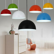 Contemporary Gloss Metal Round Dome Ceiling Light Lamp Shade Lampshade Retro NEW