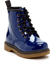 Coco Jumbo Royal Blue Patent Jane Boots Big Girls Size 4.5-7 Y
