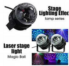 Voice Control Disco DJ Stage Light Crystal Ball Effect RGB Rotating LED Lighting