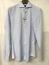 Oliver Sweeney Blue 100% Cotton Pin Stripped Shirt w/OS Pattern. Size M.