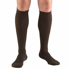Men's Compression Socks, Moderate 15-20 mmHg Support, Dress Sock Style, Brown