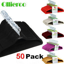 50PCS Velvet Clothes Suit/ Shirt/ Pants Hangers Hook Non Slip Storage Organize