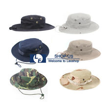 New Men Boonie Bucket Hat Cap Wide Hunting Fishing Outdoor Camping Washed Cotton