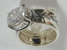 Authentic  Ring 925 Sterling Silver Ring Claddagh White CZ White Ring