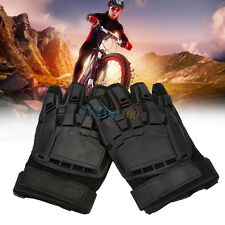 Military Tactical Outdoor Motorcycle Airsoft Paintball Half Finger Gloves TP