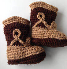 Cowboy Booties - Baby Cowboy - Baby Shoes - Handmade Crochet - Made To Order