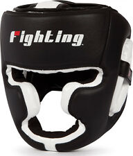 Fighting Sports S2 Gel Full Face Training Boxing Headgear - Black/White