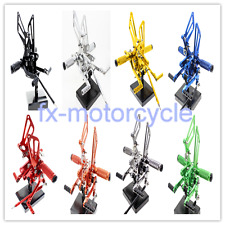 CNC Pegs Footpegs Rearsets Rear A Set For Suzuki SV650/SV650S SV1000/S 1998-2014
