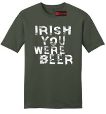 Irish You Were Beer Funny Mens Soft T Shirt St Pattys Day Party Alcohol Tee Z2