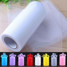 """6""""x25yd Tulle Tutu Fabric Soft Roll Spool for Wedding Party Bow Decoration Craft"""