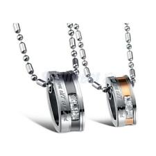 """Love You Till the End"" 316L Stainless Steel Classic Pendant Lover Necklace Gift"