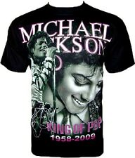 Michael Jackson T-SHIRT King of Pop rock music concert tour black Sz XXL