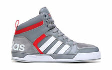 ADIDAS MENS NEO RALEIGH 9TIS HIGH TOP SNEAKER GREY RED  SHOES **WORLDWIDE SHIP