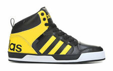 ADIDAS MENS NEO RALEIGH 9TIS HIGH TOP SNEAKER BLACK YELLOW  SHOES **BEST SELLER