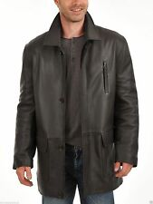 Brand New Men's Genuine Real Lambskin Soft Leather Trench Coat Long Jacket TC020