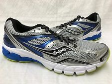 New! Mens Saucony S25281-1 Progrid Twister Running Shoe Gray/Blue/Ylw SIZE 9 I39