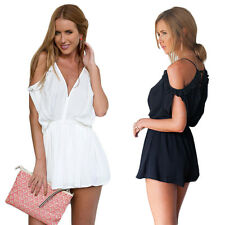 Strap Beach Fashion Summer Rompers New Women V-Neck Jumpsuits Short Sexy