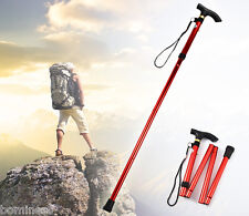 Aluminum Metal Walking Stick Easy Adjustable Folding Collapsible Travel Cane
