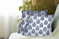 2 Pc Indian Block Printed Cotton Pillow Throw Floral Cushion Cover Ethnic Decor