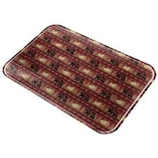 Grizzly Bear Pattern Red All Over Glass Cutting Board