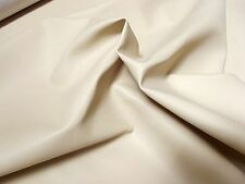 SUPER Leatherette PVC FR Vinyl Upholstery Fabric Material - CREAM