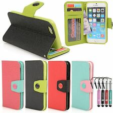 For Apple iPhone 6S 6 Leather Case Italian Design Diary Wallet Cover