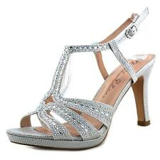 De Blossom Collection Fairy-11 Women  Open Toe Synthetic Silver Sandals