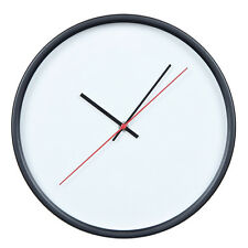 Large Simple Modern Kitchen Room Company Metal Wall Clock Silent Round 30cm