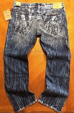 NWT $249.00 True Religion Mens Straight W/Flaps Natural Big T Jeans Size 42x33