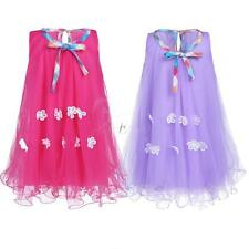 Kids Girls Summer Sleeveless Floral Tulle Birthday Party Wedding Holiday Dresses