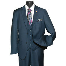 Falcone 2-Button Men's Vested Suit - 3420 Burtt L Full 3pc Sizes: 36-62R 38-62L