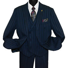 Falcone 2-Button Men's Vested Striped Suit - 380 Mat 3pc Sizes: 36-62R 38-62L