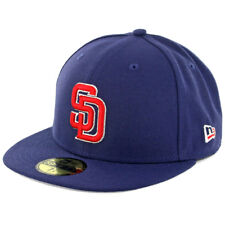 "New Era 5950 ""Patriotic Trim"" San Diego Padres Fitted Hat (Light Navy) Men's Cap"