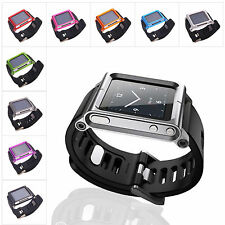 Silicone Bracelet Watch Band Wrist Strap Protective Shell/Case For iPod Nano 6