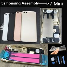 Rear Housing Assembly for Iphone 5s Full assembly to 7 mini Red,Rose Gold