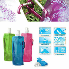 500ml Flexible Collapsible Foldable Reusable Water Bottles Ice Bag Outdoor Sport